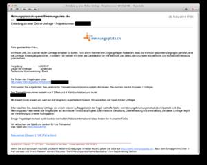Meinungsplatz-E-Mail